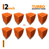 Turbo Acoustic Foam Panel, MMT Orange, Set of 72 pcs