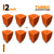Turbo Acoustic Foam Panel, MMT Orange, 72 pc