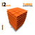 Turbo Acoustic Foam Panel, MMT Orange, Set of 9 pcs
