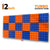 Turbo Acoustic Foam Panel, (Blue + Orange), Set of 18 pcs