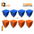 Turbo Acoustic Foam Panel, (Blue + Orange), Set of 72 pcs