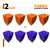Turbo Acoustic Foam Panel, (Orange + Purple), Set of 72 pcs