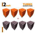 Turbo Acoustic Foam Panel, (Orange + Wine), Set of 72 pcs