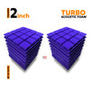 Turbo Acoustic Foam Panel, Studio Purple, Set of 18 pcs
