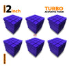 Turbo Acoustic Foam Panel, Studio Purple, Set of 54 pcs