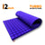 Turbo Acoustic Foam Panel, Studio Purple, 6'x3'