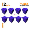 Turbo Acoustic Foam Panel, Studio Purple, Set of 72 pcs