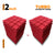 Turbo Acoustic Foam Panel, Flame Red, Set of 18 pcs