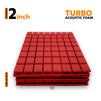 Turbo Acoustic Foam Panel 2x2 , Red Set of 3 Pcs