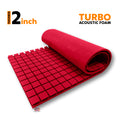 Turbo Acoustic Foam Panel, Flame Red, 6'x3'