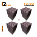 Turbo Acoustic Foam Panel, Wine, Set of 36 pcs