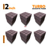 Turbo Acoustic Foam Panel, Wine, Set of 54 pcs