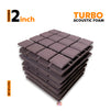 Turbo Acoustic Foam Panel, Wine, Set of 6 pcs