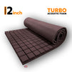 Turbo Acoustic Foam Panel, Wine, 6'x3'