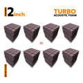 Turbo Acoustic Foam Panel, Wine, Set of 72 pcs