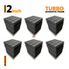 Turbo Acoustic Foam Panel, Pro Charcoal, Set of 54 pcs