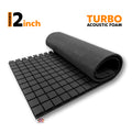 Turbo Acoustic Foam Panel, Pro Charcoal, 6'x3'