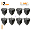 Turbo Acoustic Foam Panel, Pro Charcoal, Set of 72 pcs