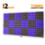 Turbo Acoustic Foam Panel, (Black +Purple), Set of 18 pcs