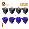 Turbo Acoustic Foam Panel, (Black + Purple), Set of 72 pcs