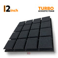 Turbo Acoustic Foam Panel, Pro Charcoal, 1 pc