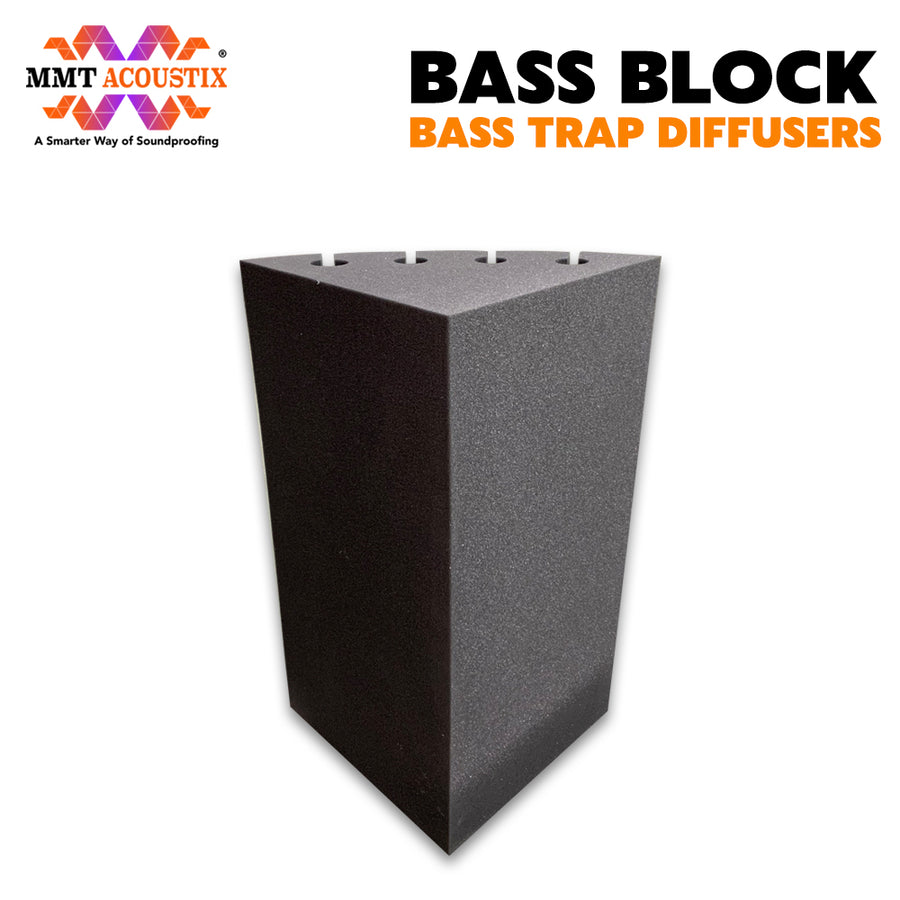 "Bass Block Bass Trap Absorber | Corner Bass Trap for low frequency | 24""x12""x12"", Pro Charcoal 