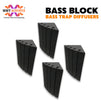 "MMT Acoustix® Bass Block Bass Trap Absorber | Corner Bass Trap for low frequency | 24""x12""x12"", Pro Charcoal 