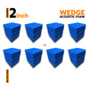Wedge Acoustic Foam Panel, European Blue, Set of 72 pcs