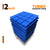 Turbo Acoustic Foam Panel, European Blue, Set of 9 pcs