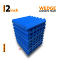 Wedge Acoustic Foam Panel, European Blue, Set of 9 pcs