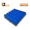 Wedge Acoustic Foam Panel, European Blue, 1pc