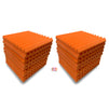 "Wedge Acoustic Foam Panel, MMT Orange, 1"" Set of 18 pcs"