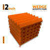Wedge Acoustic Foam Panel, MMT Orange, Set of 6 pcs