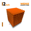 Wedge Acoustic Foam Panel, MMT Orange, Set of 9 pcs