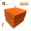 "Wedge Acoustic Foam Panel, MMT Orange, 1"" Set of 9 pcs"