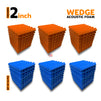 Wedge Acoustic Foam Panel, (Orange + Blue), Set of 54 pcs