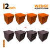 Wedge Acoustic Foam Panel, (Orange + Wine), Set of 72 pcs