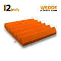 Wedge Acoustic Foam Panel, MMT Orange, 1 pc