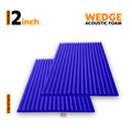 Wedge Acoustic Foam Panel, Studio Purple, 3'x3' Set of 2 pcs