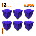 Wedge Acoustic Foam Panel, Studio Purple, Set of 54 pcs