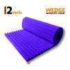 Wedge Acoustic Foam Panel, Studio Purple, 6'x3'