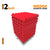 Wedge Acoustic Foam Panel, Flame Red, Set of 9 pcs