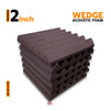 Wedge Acoustic Foam Panel, Wine, Set of 6 pcs