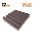 Wedge Acoustic Foam Panel, Wine, 1 pc