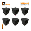 Wedge Acoustic Foam Panel, Pro Charcoal, Set of 54 pcs