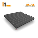 "Wedge Soundproofing Acoustic Foam 1x1 ft, 1"" (Black+Blue) - Set of 36"