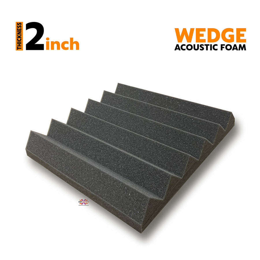 Wedge Acoustic Foam Panel, Pro Charcoal, 1 pc