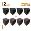 Wedge Acoustic Foam Panel, (Black + Wine), Set of 72 pcs