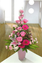 Container Arrangement In Pink