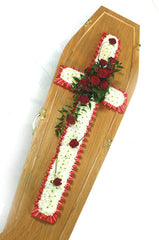 Red & White Coffin Cross